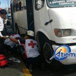 La rápida intervención del Grupo Tigre de seguridad privada evitó que el conductor de la unidad del transporte público huyera del lugar de los hechos (FOTOS: FRANCISCO ALBERTO SOTOMAYOR)