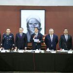 """La instalación corrió a cargo del gobernador de Michoacán, Silvano Aureoles, quien señaló que ante el panorama que actualmente enfrenta México """"una buena ruta es exaltar los valores cívicos y patrios que nos dan identidad"""""""