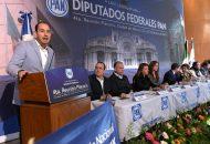 Es momento de reiterar con plena convicción que Acción Nacional no es igual a los demás partidos políticos: Cortés Mendoza