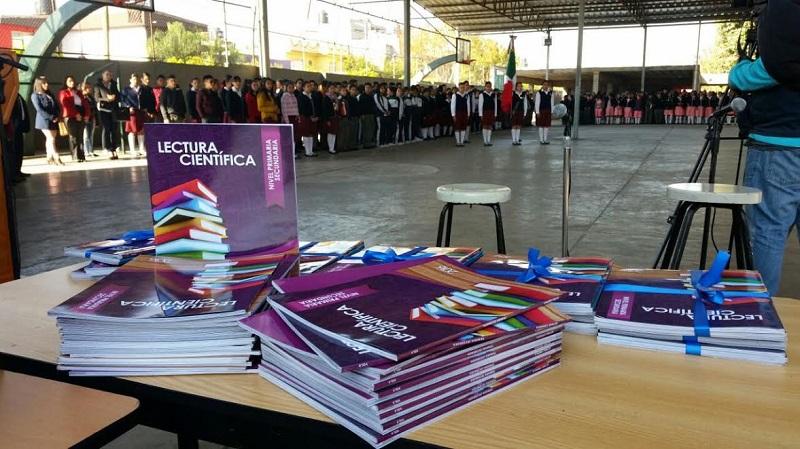 La distribución de los libros es gratuita gracias a una inversión estimada en 500 mil 880 pesos, con el respaldo del Consejo Nacional de Ciencia y Tecnología