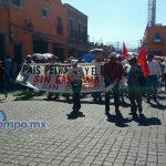 La manifestación se realizó de manera pacífica, pero provocó problemas viales a su paso (FOTOS: FRANCISCO ALBERTO SOTYOMAYOR)