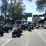 La movilización fue cuestionada por unidades de la Policía Michoacán y no entorpeció el flujo vehicular a su paso (FOTO: MARIO REBOLLAR)
