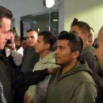 La salutación de Peña Nieto a 135 repatriados sucede en el contexto de la crisis diplomática con Estados Unidos, desde que Donald Trump asumió la presidencia de ese país