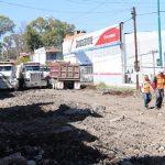 De la calle Virrey de Mendoza a Tecuén actualmente los trabajadores se concentran en la demolición del pavimento existente y la excavación correspondiente
