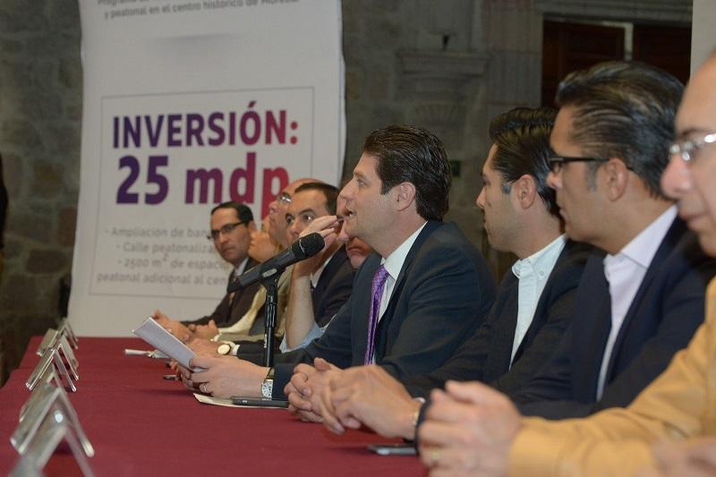 Martínez Alcázar informó que el gobierno municipal Independiente cuenta ya con la licencia de autorización del INAH, por lo que en los días subsecuentes iniciarán con dichos trabajos en el Corazón de la ciudad