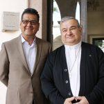 Durante un encuentro celebrado la mañana de este miércoles, el titular de la SSP y el jerarca católico coincidieron en que se mantendrá una coordinación permanente y respetuosa que ayude en la prevención de ilícitos