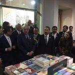 El rector Medardo Serna González acudió a la ceremonia de inauguración de la Feria, llevada a cabo en el salón de actos del Palacio de Minería, en el Centro Histórico de la Ciudad de México