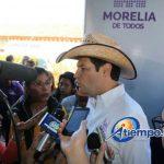 Martínez Alcázar aseguró que en breve se detallarán en una tabla los recursos federales que ha recibido Morelia en los últimos años para seguridad pública (FOTO: MARIO REBOLLAR)