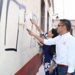 el Director del Patrimonio Cultural de Morelia, Juan Carlos Mata García, recordó que la meta para el programa del retiro de grafiti en el 2017 será de mil 500 metros cuadrados