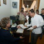 El presidente municipal solicita respetuosamente una fecha para presentar los avances en cuestión de seguridad en el municipio ante el Poder Legislativo del estado