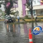 También en el Centro Histórico se registró una intensa lluvia con fuertes vientos y acumulación de granizo en algunas calles (FOTOS: FRANCISCO ALBERTO SOTOMAYOR)