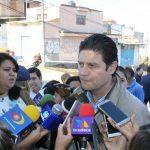 Martínez Alcázar inauguró la repavimentación de un tramo de la Avenida La Joya, en el sur de la ciudad de Morelia (FOTO: MARIO REBOLLAR)