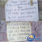 Los inconformes aseguran que el despido fue injustificado (FOTO: MARIO REBOLLAR)