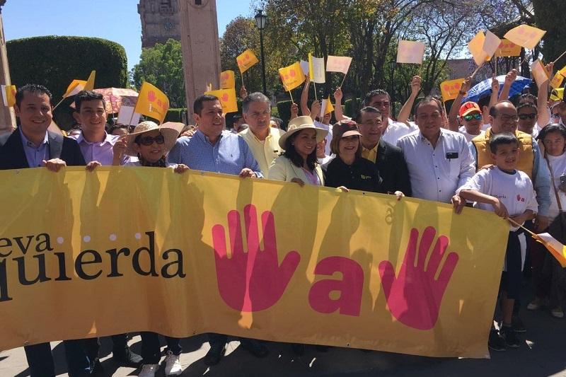 En Morelia, Zambrano Grijalva saludó la posición del gobernador de Michoacán, Silvano Aureoles, respecto de su llamado a unir fuerzas de cara al 2018