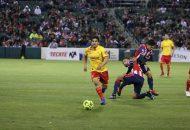 El partido se encontraba parejo, pero poco a poco La Monarquía iba ganando terreno, hasta que al 80' encontraron el gol con un centro de Zárate que Claudio Zamudio definió pegado al poste