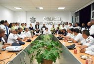 Juan Bernardo Corona, titular de la SSP exhortó a los delegados a estrechar la coordinación institucional con los comandantes regionales y los presidentes municipales