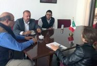 El titular de la Dirección del Trabajo y Previsión Social, mantuvo reuniones, con Guadalupe Díaz, del Iifeem y José Noguez Saldaña delegado de la Secretaría de Trabajo y Previsión Social (STPS)