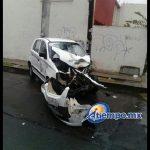 Se reportaron dos personas lesionadas como producto de este accidente (FOTOS: FRANCISCO ALBERTO SOTOMAYOR)