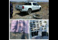 Los detenidos, las armas, cargadores y cartuchos fueron puestos a disposición de la autoridad competente, la cual continuará con las investigaciones