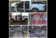 El vehículo, armas, cargadores y cartuchos fueron puestos a disposición de la autoridad competente