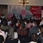 Jesús Dueñas, líder nacional del Movimiento Juvenil Mexicano, llamó a los jóvenes priistas a tener una actitud positiva frente a los retos que atraviesa el partido y el país