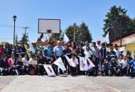 Los trabajos consistirán en la rehabilitación de la cancha de basquetbol, cubierta de cancha y barda perimetral.