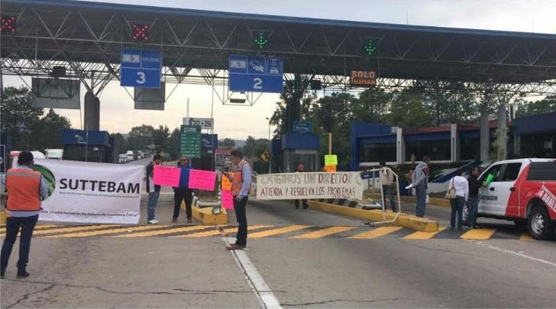 Miembros del Suttebam tomaron casetas de peaje y se manifestaron en alcaldías, receptorías de rentas y oficinas del Registro Civil