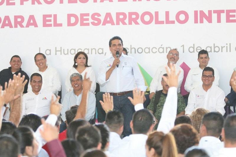 Arranca el mandatario la construcción de 37 Cuartos Rosas, a favor de mujeres jefas de familia, con una inversión cuatripartita de 1.73 mdp