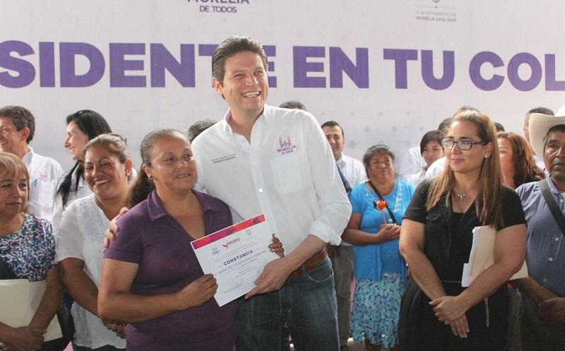 Martínez Alcázar agregó que poco a poco la administración municipal ha respondido al rezago de obras que a lo largo de los años había evidenciado Morelia