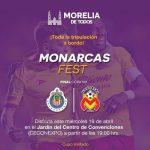 El equipo Monarcas Morelia y el Ayuntamiento de Morelia, invitan además a los asistentes a arribar al Centro de Convenciones de manera puntual para escoger los lugares de su preferencia, y vestir de rojo y amarillo para refrendar el apoyo y animo al Equipo de la Fuerza