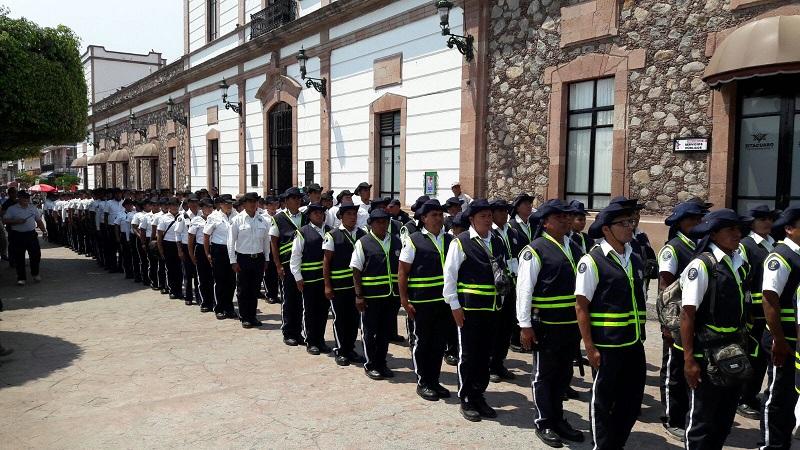 Durante nueve días, visitantes, turistas y familias en Zitácuaro, fueron testigos de la labor de los nuevos modelos policiales que al mando del Instituto, se encuentran en constante capacitación