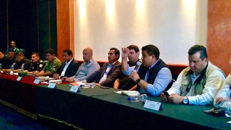 Puebla Arévalo agradeció a las corporaciones que trabajan de manera coordinada en esta mesa, Policía Federal, Ejército Mexicano, Policía Michoacán, PGJE y Atención a Víctimas del Delito