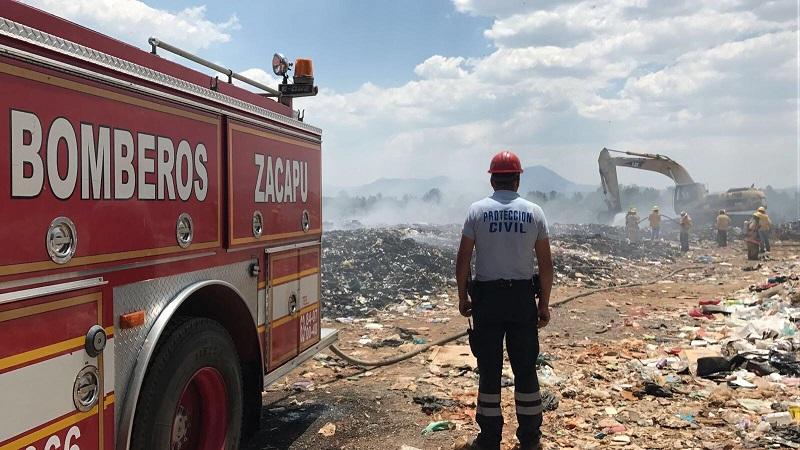 En el combate al siniestro trabajaron la ABEM Delegación Zacapu, la Cofom, el municipio de Panindícuaro y empresas privadas