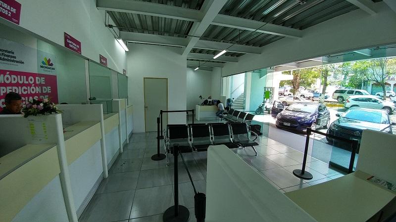 Muestra de ello es la reubicación del módulo de licencias que operaba en el Boulevard García de León a las nuevas instalaciones, ubicadas en avenida Camelinas número 333, colonia Félix Ireta, en la capital michoacana