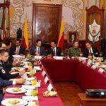 El gobernador de Michoacán la reunión del Grupo de Coordinación para la Seguridad Local de Morelia.