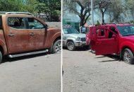 En Las Cruces se logró el aseguramiento de dos camionetas marca Nissan, línea Frontier, con reporte de robo, y una marca Chrysler, línea Liberty, sin reporte de robo, que fueron puestas a disposición de la autoridad correspondiente