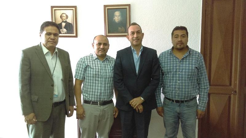 El funcionario estatal resaltó el interés del Gobernador Silvano Aureoles Conejo por establecer de manera permanente lazos de comunicación y coordinación en beneficio de la población michoacana