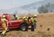 Vale señalar que en el control de los incendios, motivo de la presente denuncia, se contó con el apoyo de dos camiones cisterna todo terreno y participaron las brigadas del municipio, las comunitarias y de la COFOM
