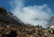Protección Civil Estatal continuará vigilando el lugar a fin de que no resurja el incendio y con ello evitar cualquier otro suceso en el sitio