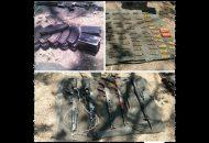 Las armas, cargadores y cartuchos fueron puestos a disposición de la autoridad correspondiente