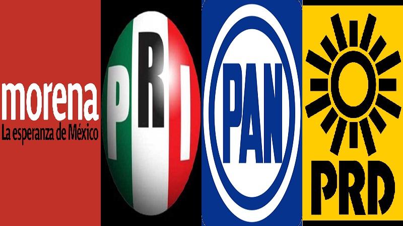 Morena, PAN, PRI y ahora también el PRD, serán fundamentales en la determinación del próximo presidente de México