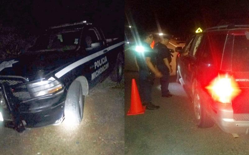 Los elementos repelieron la agresión y el conductor aceleró la marcha de la unidad dándose a la fuga, por lo que los policías emprendieron un operativo de búsqueda y detención del presunto agresor
