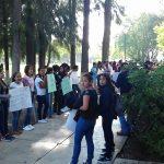 Los jóvenes se presentaron esta vez bajo las siglas del Comité Estudiantil Universitario Nicolaita (CEUN) (FOTO: FRANCISCO ALBERTO SOTOMAYOR)
