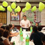 Se reúne Núñez Aguilar con la militancia del PVEM en Uruapan