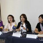 En rueda de prensa la titular de la Seimujer, Fabiola Alanís Sámano, destacó la relación con las universidades las cuales son aliadas estratégicas para el impulso y desarrollo de las mujeres en todos los aspectos