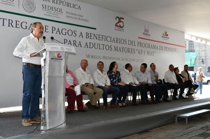 Silva Tejeda afirmó que este programa incorpora a un importante número de michoacanos y los recursos son dirigidos de manera directa para cumplir su objetivo