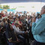 Color Gasca participó en la inauguración de la Feria de Servicios Institucionales para los Adultos Mayores beneficiarios del Programa 65 y Más en la tenencia de Irapeo, municipio de Charo
