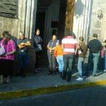 Unas 60 personas se apostaron afuera de Palacio Municipal para exigir que se les permita vender sus productos en el Centro Histórico de Morelia