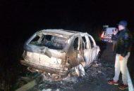 Al lugar se trasladaron unidades de bomberos así como Policía Michoacán los cuales confirmaron que se trataba de una camioneta BMW X5, con placas de circulación HBF-2408 del estado de Guerrero