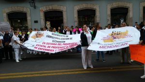 Las manifestantes demandan homologación de sueldos, profesionalización de sus tareas y los insumos necesarios para la realización de su trabajo